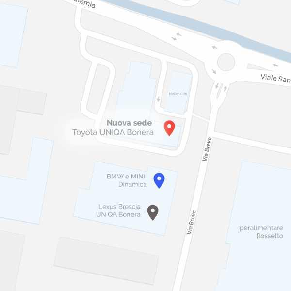 Mappa nuova sede Toyota